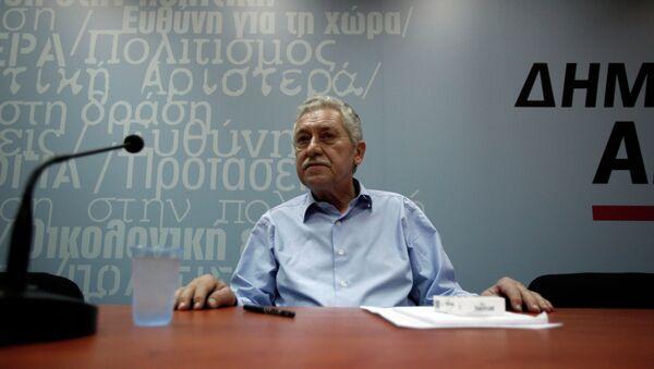 Fotis Kuvelis, líder del partido griego Izquierda Democrática - Sputnik Mundo