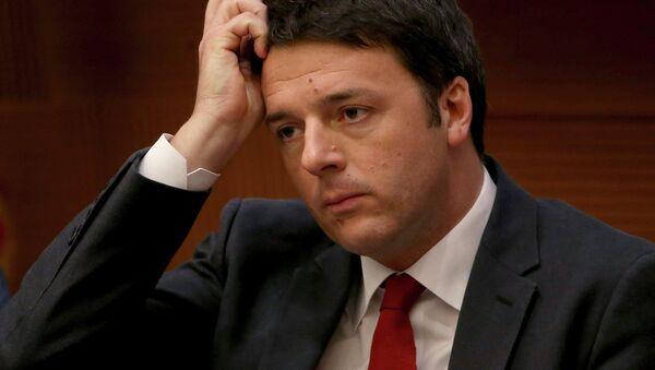Matteo Renzi, primer ministro italiano - Sputnik Mundo