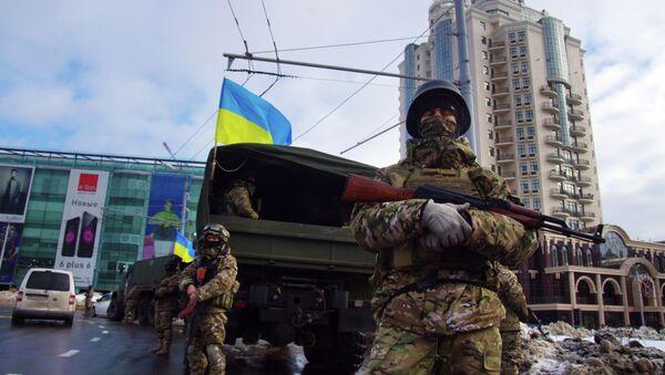 Las tropas especiales en Odesa durante la operación en enero del 2015 - Sputnik Mundo