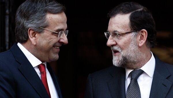 Antonis Samarás, primer ministro de Grecia y Mariano Rajoy, presidente de España - Sputnik Mundo