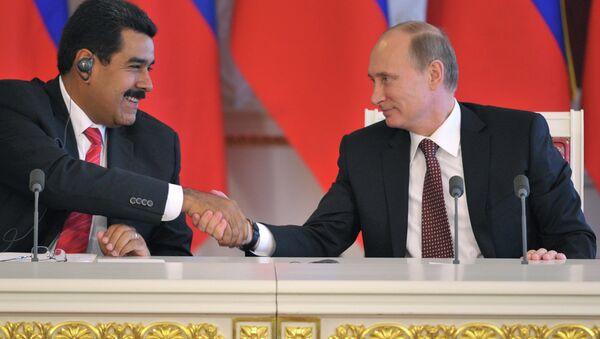 Nicolás Maduro, presidente de Venezuela y Vladímir Putin, presidente de Rusia - Sputnik Mundo