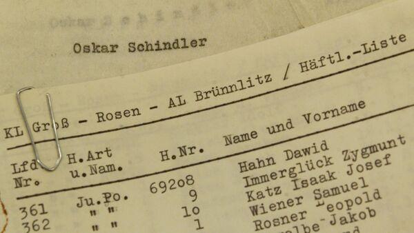 La lista de Schindler - Sputnik Mundo