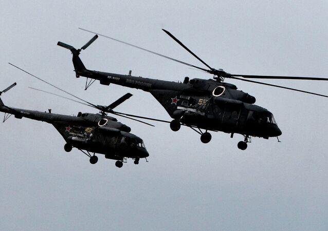 Helicópteros rusos Mi-8 AMTSH