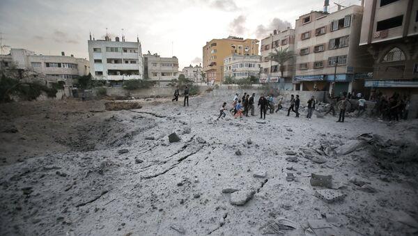 El conflicto armado entre Israel y Palestina (archivo) - Sputnik Mundo