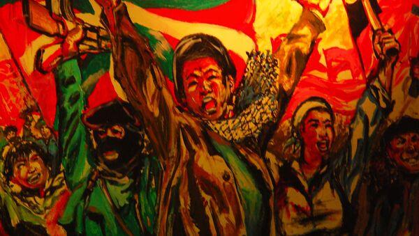 Grafismo de organización de ideología nacionalista vasca ETA (Euskadi Ta Askatasuna), San Sebastian - Sputnik Mundo