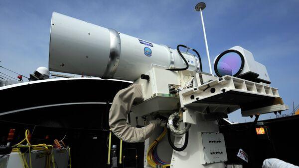 Primer sistema láser de uso militar, desarrollado por la Armada de EEUU - Sputnik Mundo