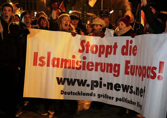 Manifestación antiislamista en Alemania