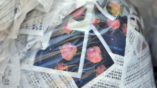 Activistas rehúsan arrojar sobre Corea del Norte DVDs con la película La Entrevista - Sputnik Mundo