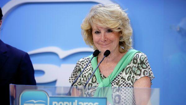 Esperanza Aguirre, expresidenta del Partido Popular en Madrid (PP) - Sputnik Mundo
