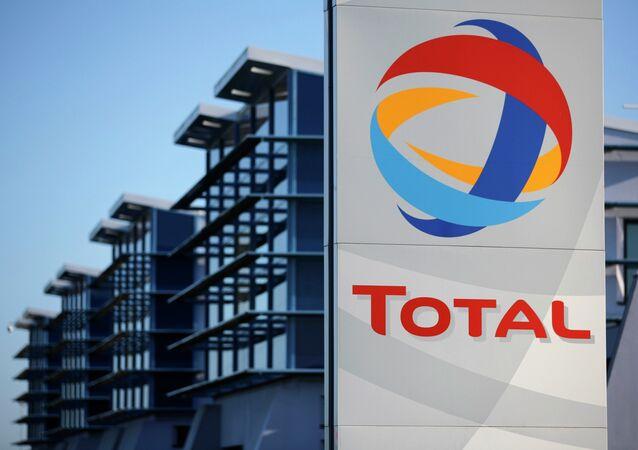 El logo de de la compañía francesa Total