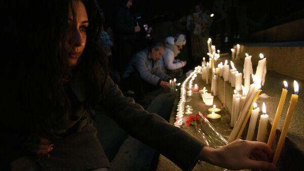 Homenaje a las víctimas de la masacre de Gyumri - Sputnik Mundo