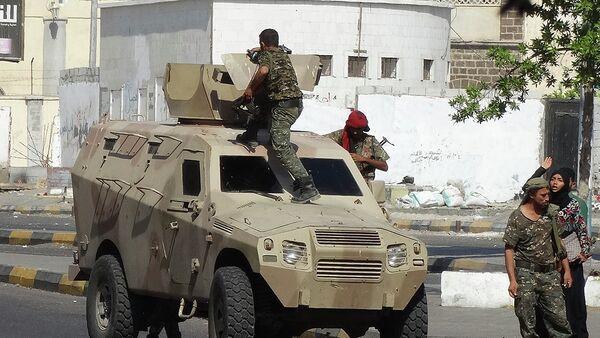 Fuerzas de seguridad de Yemen en el sur de la ciudad de Adén (archivo) - Sputnik Mundo