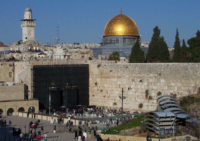 Muro de las Lamentaciones y la Cúpula de la Roca en Jerusalén