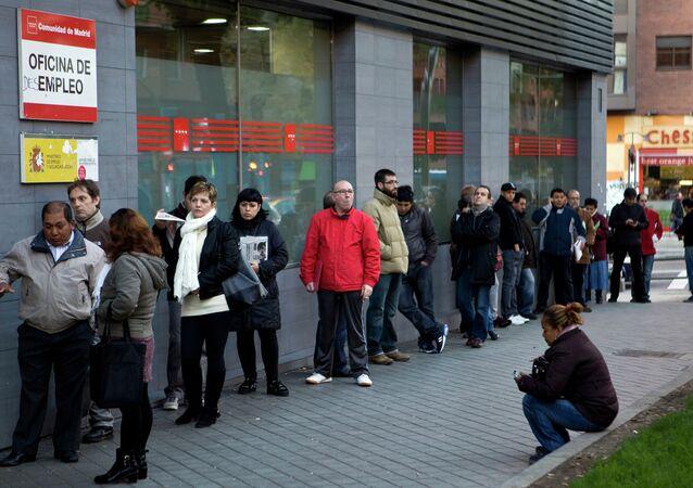 Oficina de empleo en Madrid (archivo)