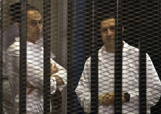 Hermanos Gamal y Alaa Mubarak