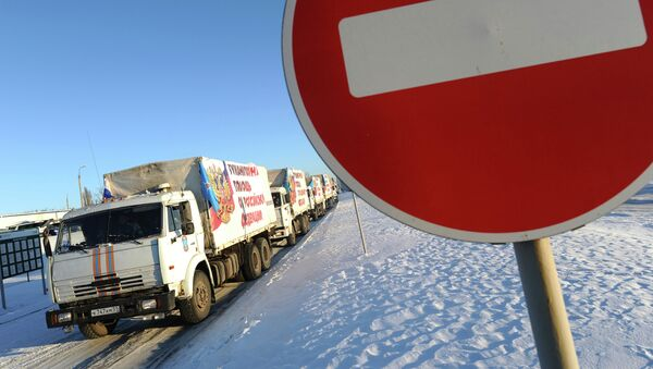 Convoy humanitario para Donbás - Sputnik Mundo