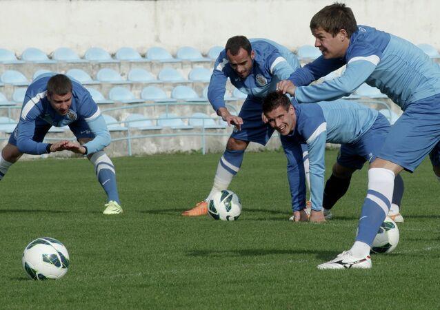 Jugadores del club de Crimea Sebastopol