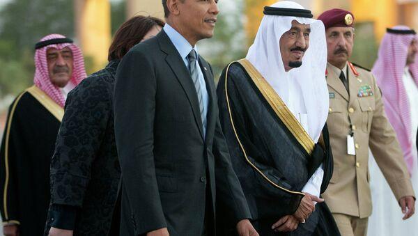 Presidente de EEUU Barack Obama y príncipe Salman bin Abdelaziz al Saud - Sputnik Mundo