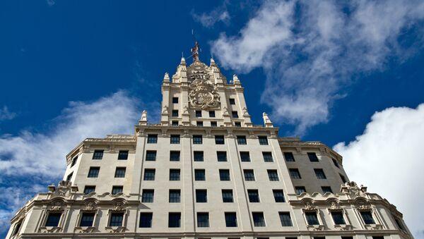 Edificio de la compañía española Telefónica en Madrid - Sputnik Mundo