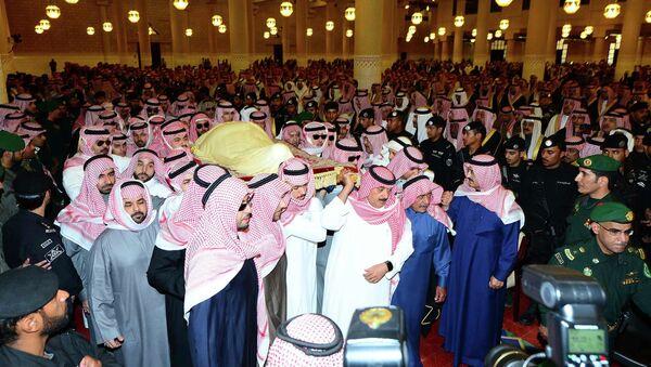 Ceremonia de despedida del rey Abdalá - Sputnik Mundo