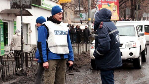 Observadores de la OSCE en Donetsk - Sputnik Mundo
