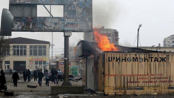 Bombardeo de la ciudad de Mariúpol - Sputnik Mundo