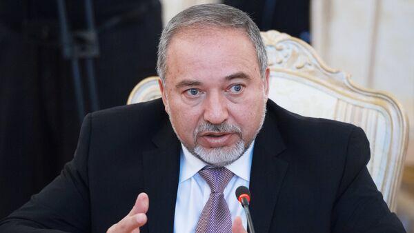 Avigdor Liberman, ministro de Exteriores israelí - Sputnik Mundo