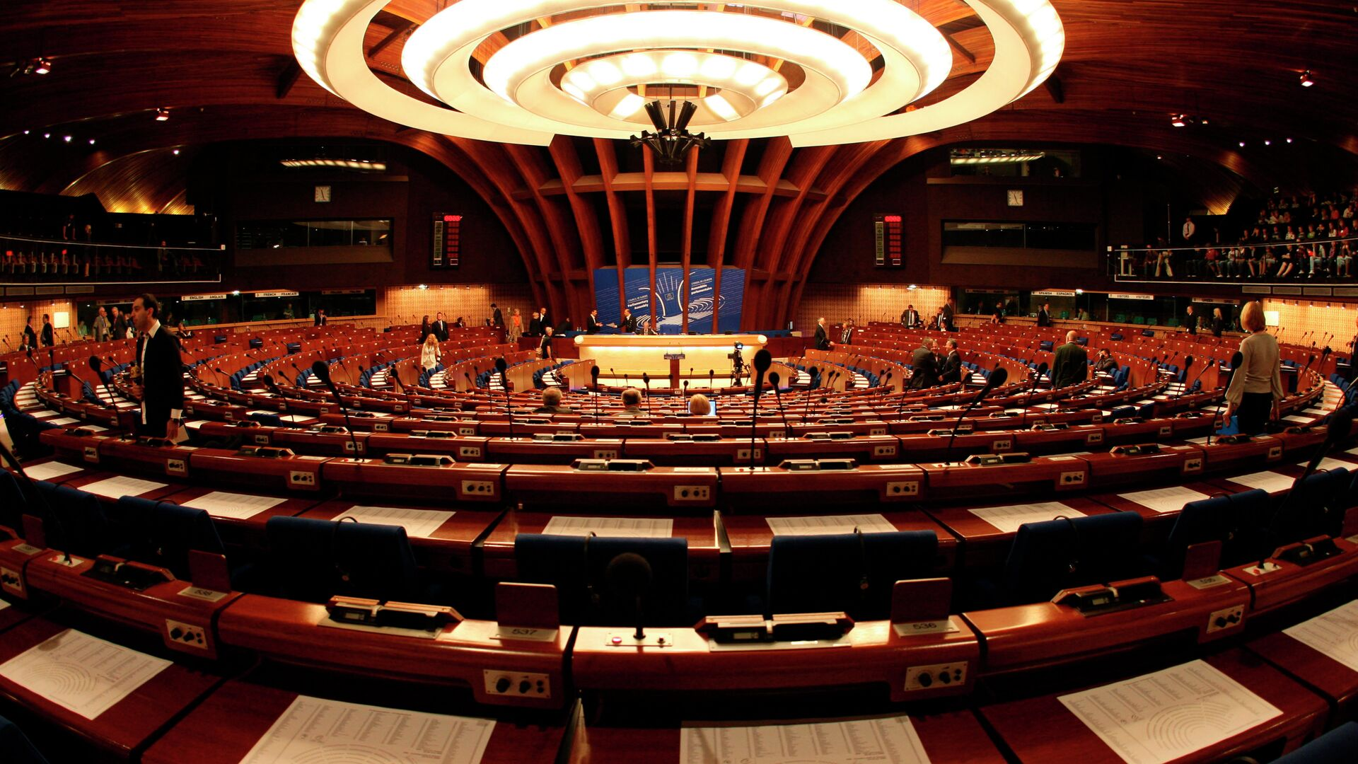 General view of the plenary room of the Council of Europe in Strasbourg, eastern France - Sputnik Mundo, 1920, 21.06.2021
