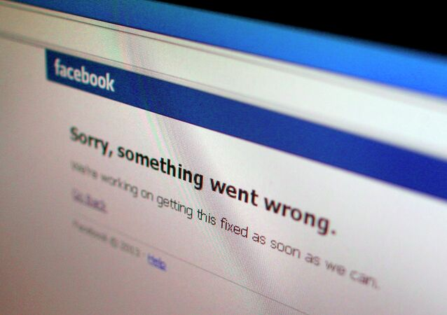 A Facebook error message is seen in this illustration photo of a computer screen in Singapore in this June 19, 2014 file photo