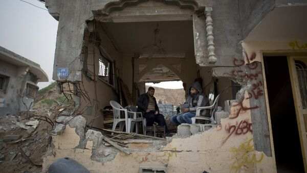 Edificios destruidos en la Franja de Gaza - Sputnik Mundo