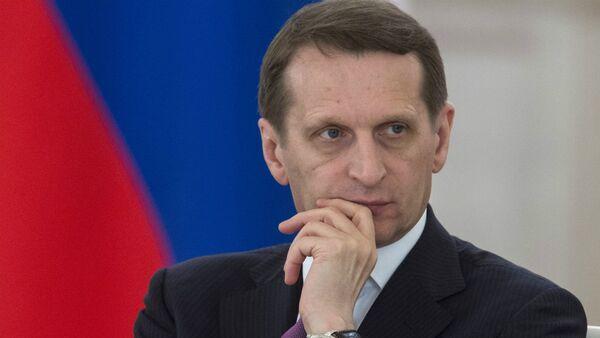 Serguéi Narishkin, presidente de la Duma de Rusia - Sputnik Mundo