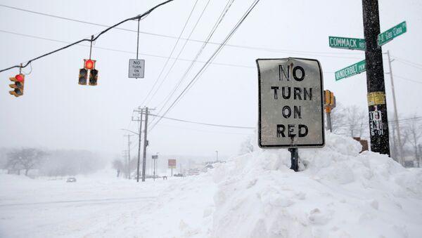 Tormenta de nieve congela Nueva York - Sputnik Mundo