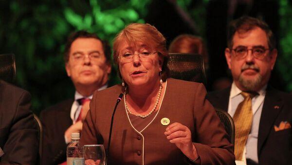 Michele Bachelet, presidenta de Chile - Sputnik Mundo