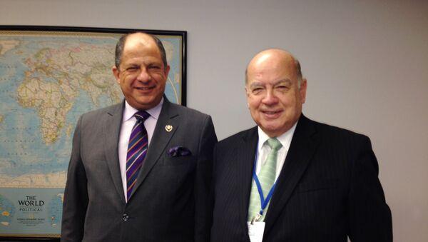 President of Costa Rica, Luis Guillermo Solís y OAS Secretary General, José Miguel Insulza - Sputnik Mundo