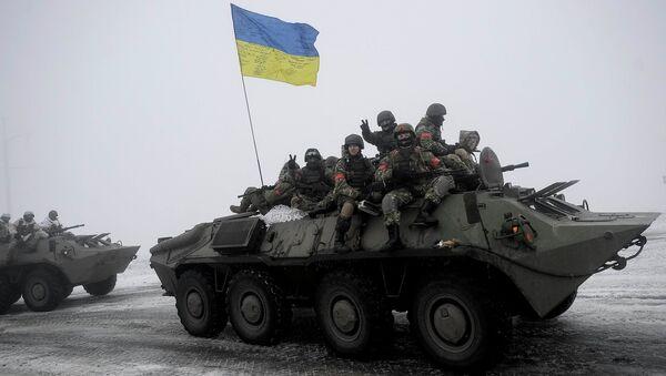 Militares ucranianos en Donbás (archivo) - Sputnik Mundo
