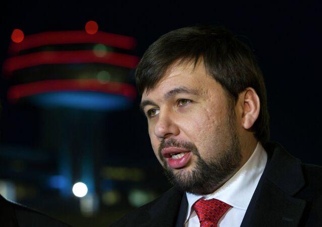 Denís Pushilin, representante de la RPD