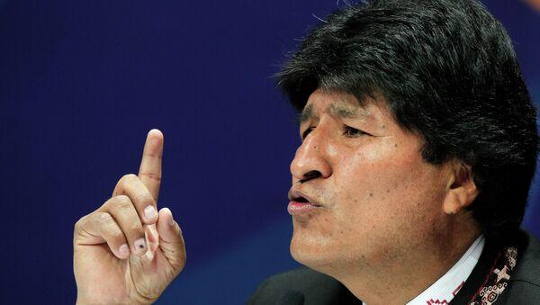 Bolivia's President Evo Morales speaks during a news conference at the CELAC summit in San Antonio de Belen Heredia province January 29, 2015. - Sputnik Mundo