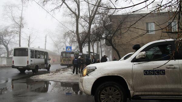 OSCE en Donetsk - Sputnik Mundo