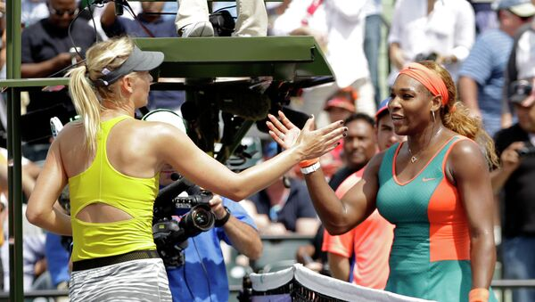 María Sharapova y Serena Williams - Sputnik Mundo