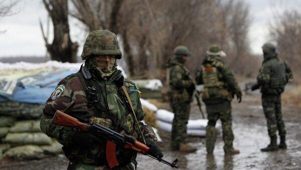 Soldados ucranianos en la región de Donetsk - Sputnik Mundo