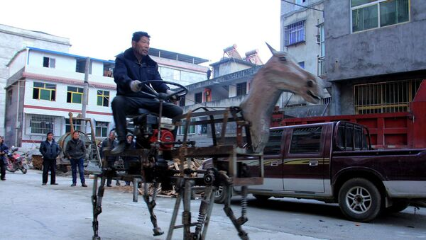 Su Daocheng en su caballo motorizado de metal - Sputnik Mundo