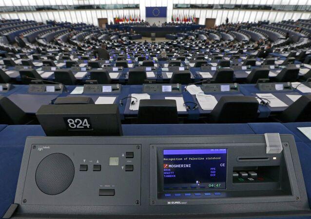 Sala plenaria del Parlamento Europeo en Estrasburgo (Archivo)
