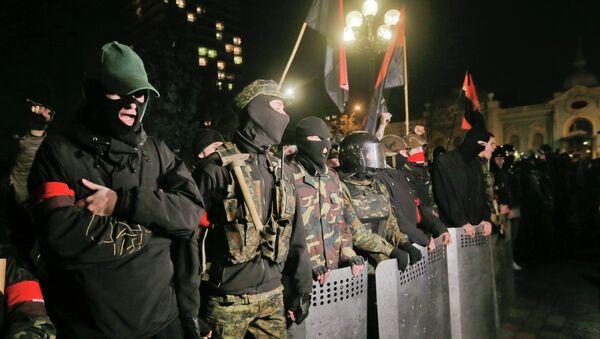 Activistas del movimiento Pravy Sektor - Sputnik Mundo