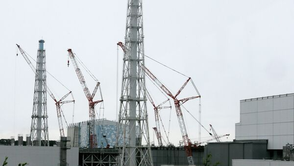 This photo taken on July 9, 2014 shows cranes working et the Unit 3 building next to the Unit 4 at the tsunami-crippled Tokyo Electric Power Co.'s Fukushima Daiichi Nuclear Power Plant in Okuma, Fukushima Prefecture, northeast of Tokyo - Sputnik Mundo