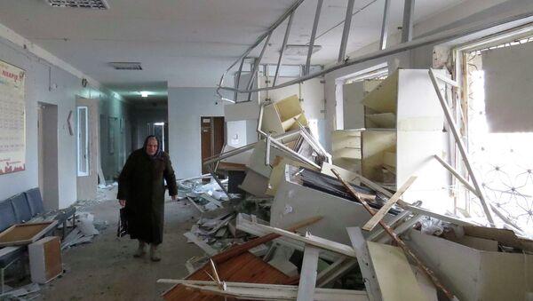 Damaged hospital in Donetsk - Sputnik Mundo