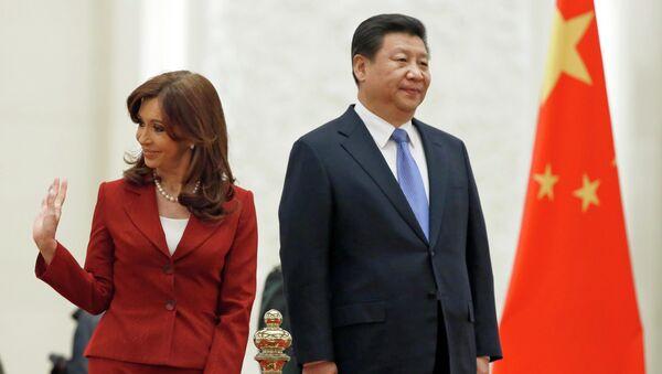 Presidenta de Argentina, Cristina Kirchner y Presidente de la República Popular China, Xi Jinping - Sputnik Mundo