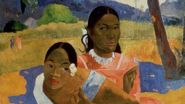 El óleo del impresionista francés Paul Gauguin Nafea Faa Ipoipo (¿Cuándo te casarás?) - Sputnik Mundo
