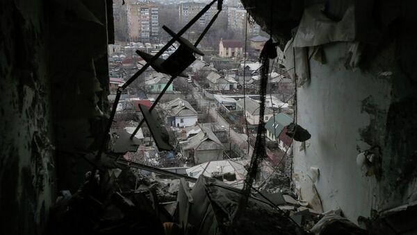Casas destruidas en la región de Donetsk - Sputnik Mundo