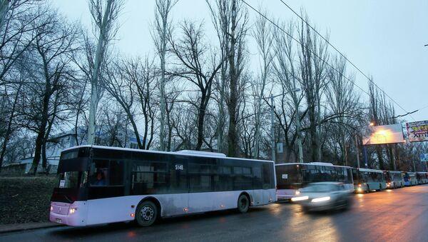 La evacuación de civiles de Debáltsevo - Sputnik Mundo