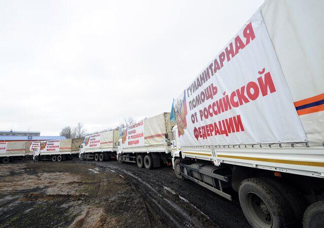 Decimotercio convoy ruso con la ayuda humanitaria para Donbás